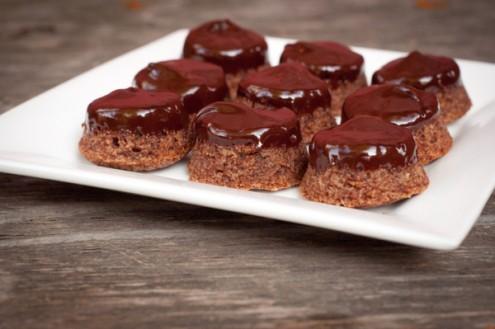 Dorie Greenspan ganache dipped chocolate tiger cakes on eatlivetravelwrite.com