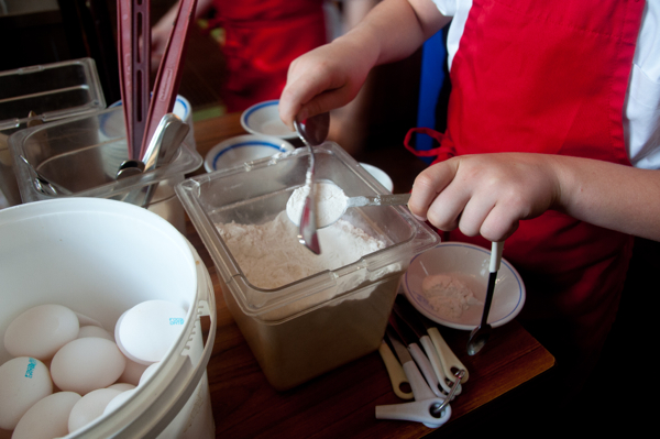 Scoop and sweep flour on eatlivetravelwrite.com