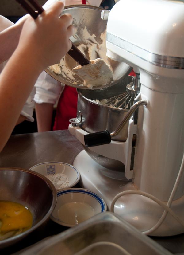 Mixing souffle ingredients on eatlivetravelwrite.com