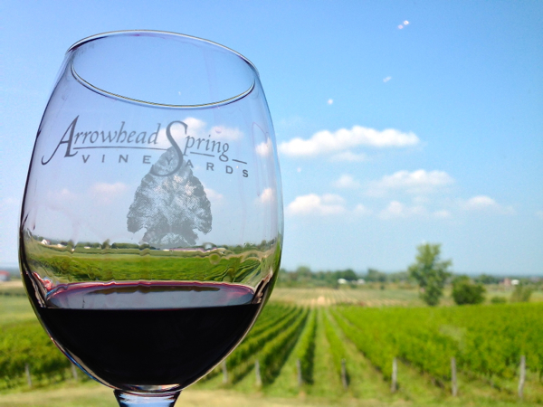 Arrowhead Spring WIneyard on the Niagara Wine Trail on eatlivetravelwrite.com
