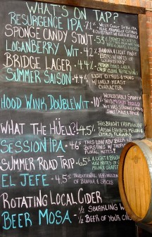 What's on tap at Resurgence Brewing COmpany in Buffalo on eatlivetravelwrite.com
