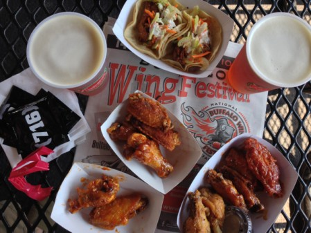 At the NAtional Wing Festival in Buffalo on eatlivetravelwrite.com
