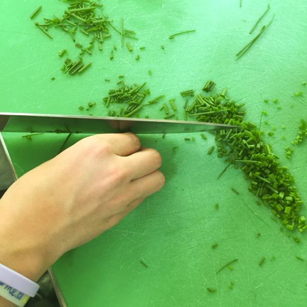 Kids chopping chives on eatlivetravelwrite.com