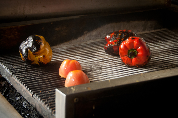 Blistering pepper skins on eatlivetravelwrite.com