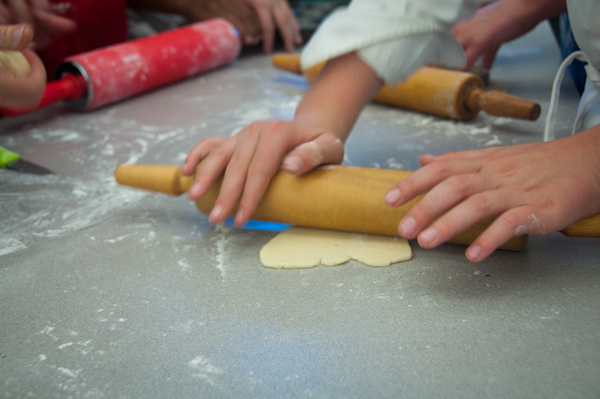 Kids rolling pastry dough on eatlivetravelwrite.com