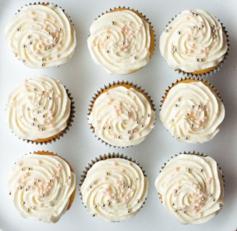 Champagne cupcakes from Butter Celebrates on eatlivetravelwrite.com