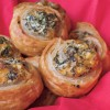 Spinach and ricotta puff pastry rolls on eatlivetravelwrite.com