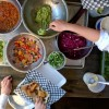 Kids prepping fish nachos on eatlivetravelwrite.com