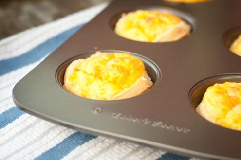 Mini cheese quiches on eatlivetravelwrite.com