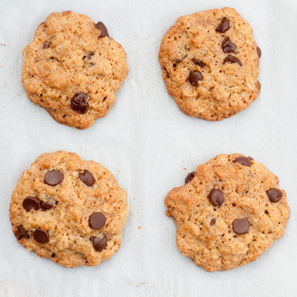 Chocolate chip and oatmeal cookies on eatlivetravelwrite.com