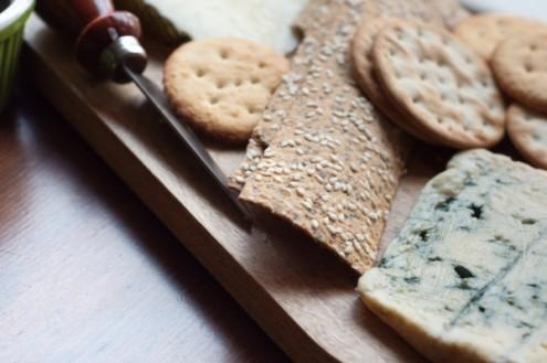 Ozerys lavash crackers on cheese board on eatlivetravelwrite.com