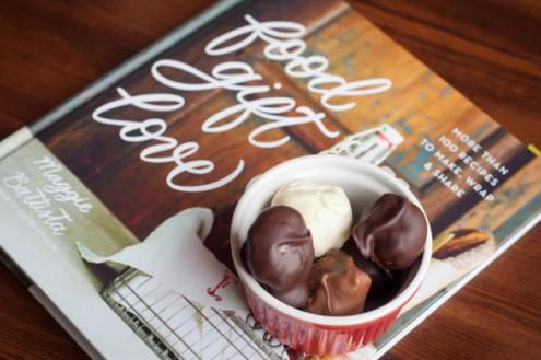 Chocolate peanut butter balls from Food Gift Love on eatlivetravelwrite.com