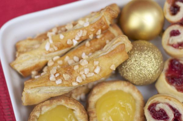 Puff pastry pearl sugar batons on eatlivetravelwrite.com
