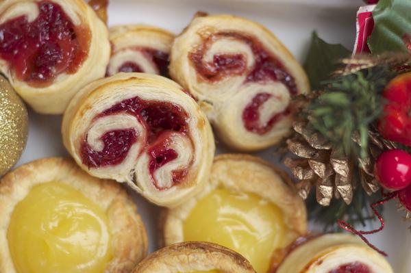 Raspberry cranberry palmiers on eatlivetravelwrite.com