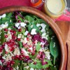 Pomegranate, spinach and feta salad on eatlivetravelwrite.com