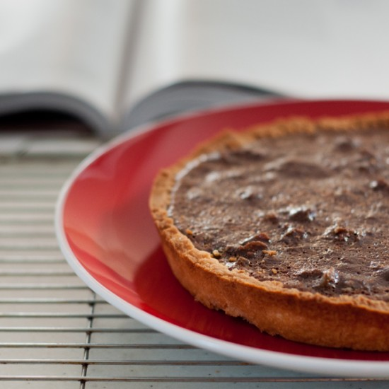 Dorie Greenspan Chocolate Chestnut Tart on eatlivetravelwrite.com