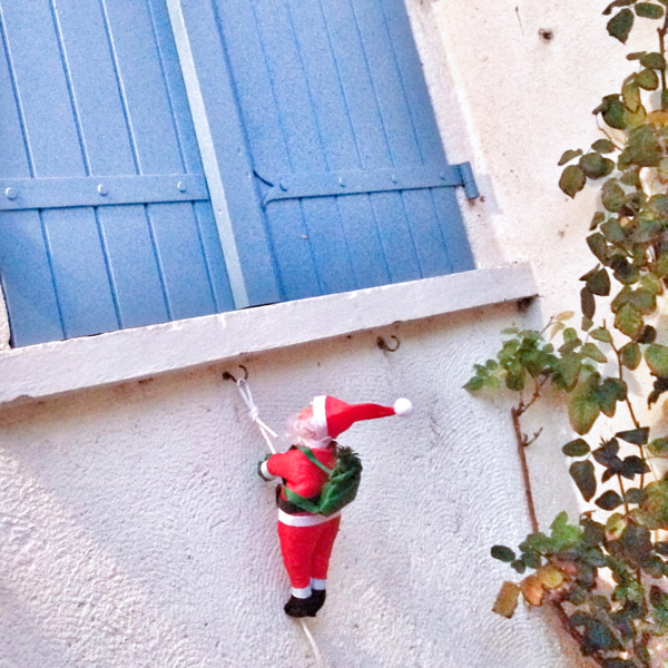French Santa decoration on eatlivetravelwrite.com