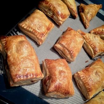 Mini beef and mushroom pastries on eatlivetravelwrite.com