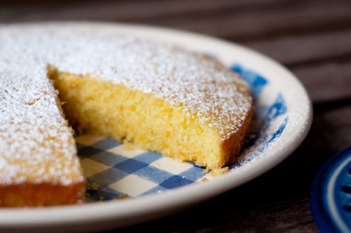 Interior tangerine carrot cake from Baking Chez Moi on eatlivetravelwrite.com