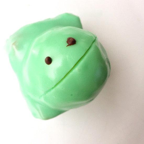 Homemade frog cake on eatlivetravelwrite.com