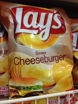 Cheeseburger flavoured chips on eatlivetravelwrite.com