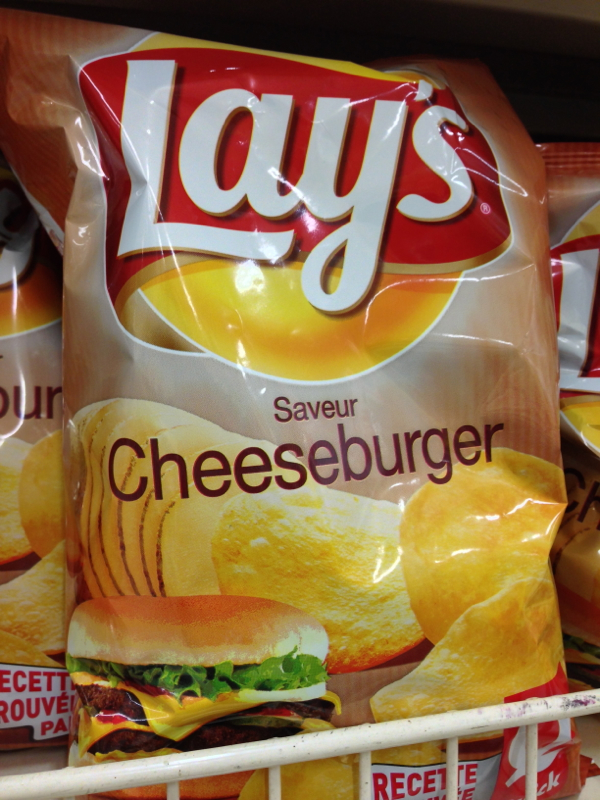 Cheeseburger flavoured chips on eatlivetravelwrite.com