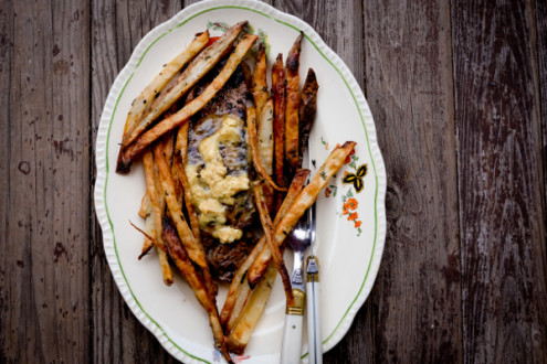 Steak frites from my Paris Kitchen on eatlivetravelwrite.com