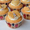 Butterfly cupcake filled with jam and cream on eatlivetravelwrite.com