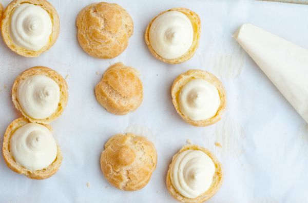 Choux puffs filled with passionfruit curd on eatlivetravelwrite.com