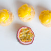 Choux puffs filled with passion fruit cream on eatlivetravelwrite.com