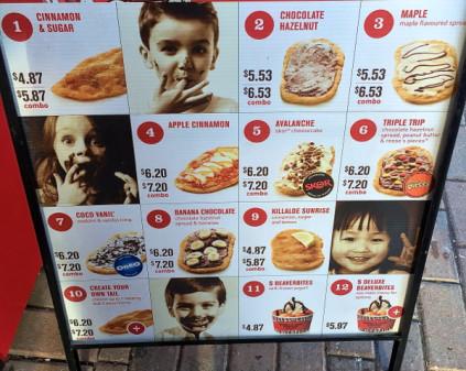 Beaver Tails toppings on eatlivetravelwrite.com