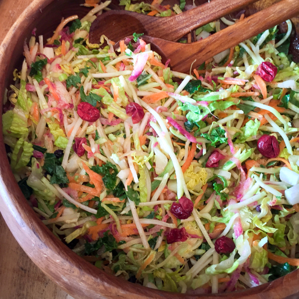 Maple Brussels Sprout slaw from Homegrown on eatlivetravelwrite.com