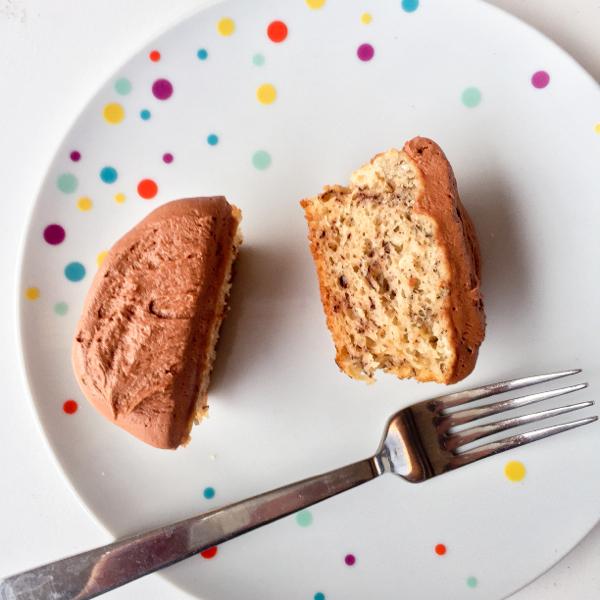 Chocolate banana cupcakes on eatlivetravelwrite.com