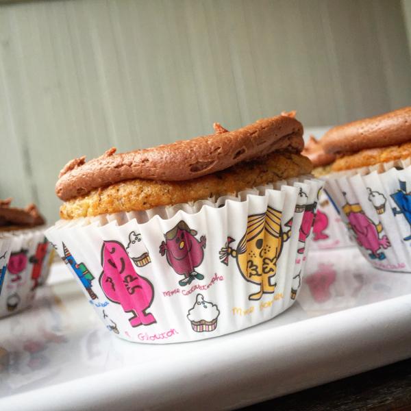 Prairie Girl Bakery banana cupcakes with chocolate cream cheese icing on eatlivetravelwrite.com