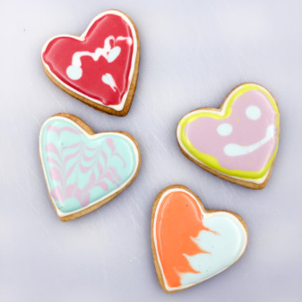 Valentine's Day cookies decorated by kids on eatlivetravelwrite.com