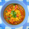 Spicy red lentil soup from Homegrown on eatlivetravelwrite.com