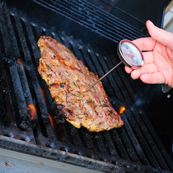 Using a meat thermometer on eatlivetravelwrite.com