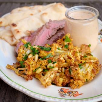 Roasted curried cauliflower on eatlivetravelwrite.com