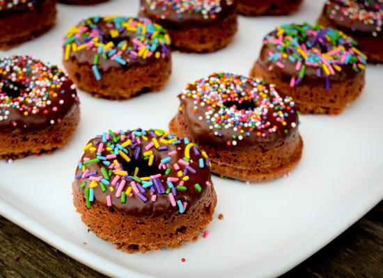 Baked double chocolate donuts glazed on eatlivetravelwrite.com