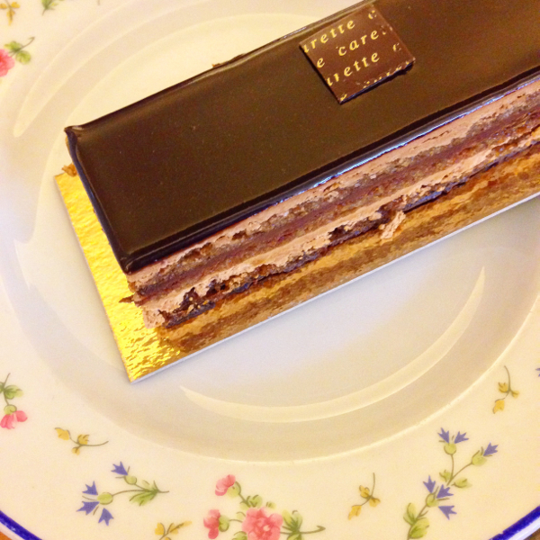 Opera cake at Carette on eatlivetravelwrite.com