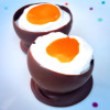Cream eggs in chocolate egg shells on eatlivetravelwrite.com