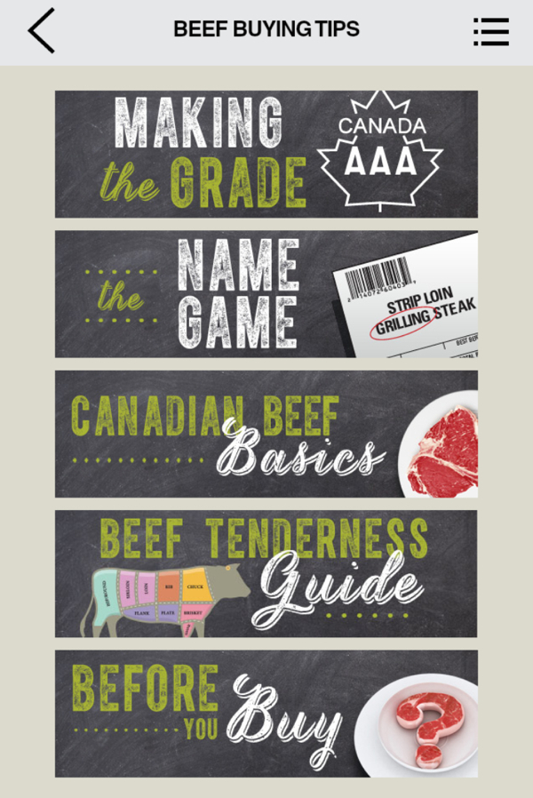 Canada Beef The Roundup App Beef Buying Tips on eatlivetravelwrite.com