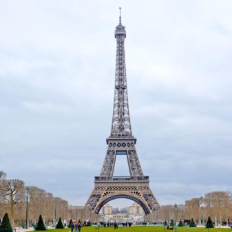 Tour Eiffel at the end of Fat Tire Bike tour on Champ de Mars on eatlivetravelwrite.com