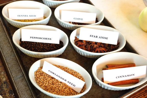 Spice selection at The Gallery Grill on eatlivetravelwrite.com