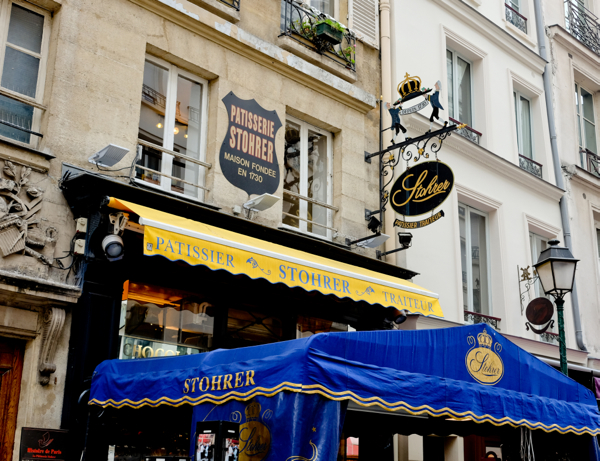 Maison Stohrer facade on the rue Montorgueil on eatlivetravelwrite.com