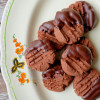 Chocolate melting moments dipped in chocolate on eatlivetravelwrite.com