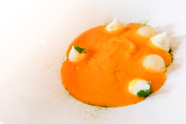 Sweet potato soup at Langdon Hall on eatlivetravelwrite.com