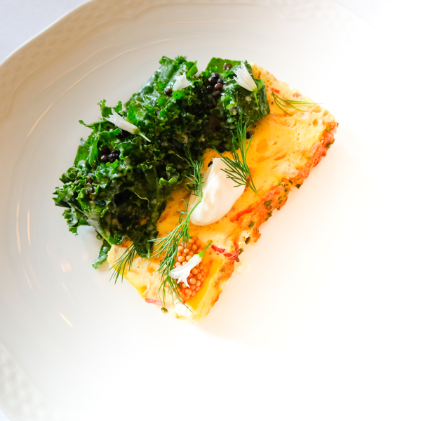 Duck egg frittata at Langdon Hall on eatlivetravelwrite.com