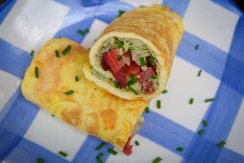 A twist on Jamie Oliver omelette on eatlivetravelwrite.com