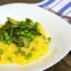 Asparagus and pea risotto made with Better than Bouillon chicken base on eatlivetravelwrite.com